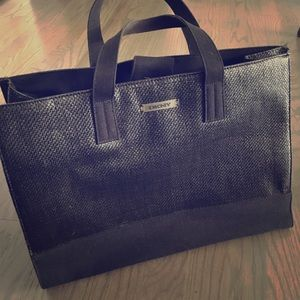 Straw and Canvas DKNY Tote